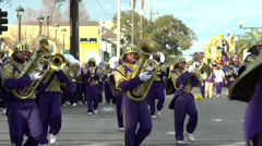 St Augustine High School marching in Endymion 2014 - stock footage