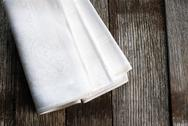 Stock Photo of white cloth napkins