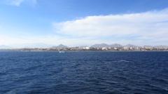 Motor yacht, open sea Stock Footage