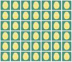 Stock Illustration of easter yellow and green eggs pictograms