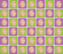 easter pattern with eggs pictograms - stock illustration