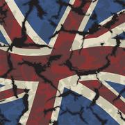 Stock Illustration of British grunge flag. Vector
