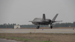 First F-35 Royal Air Force Short Take Off and Vertical Landing - stock footage