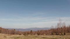 View of the polonyna Rivna internal Carpathians, snow Stock Footage