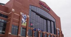 Lucas Oil Stadium in Indianapolis 4k Stock Footage