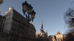 Paris - France - Île de la Cité - HD Stock Footage