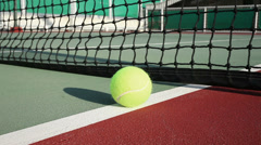 Tennis ball on the court - stock footage