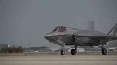 First F-35 Royal Air Force Short Take Off and Vertical Landing Stock Footage