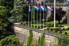 Place de la perustuslaki Luxemburgin kaupungissa Kuvituskuvat