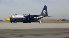 'Fat Albert' Visits Yuma, Takes Marines On Flight Stock Footage