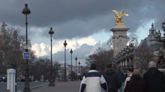 Paris - France - Pont Alexandre III - HD Stock Footage
