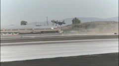 VMFA-121 F-35B Lightning II short take off, and vertical landing Stock Footage