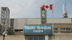 HOSPITAL BUILDING,  HEALTH SCIENCES  CENTER Stock Footage