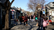 Stock Video Footage of Roaming along the famous Nanluogu alley of Beijing, China