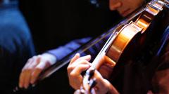 Violinist alone Stock Footage