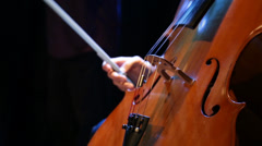 Detail of professional man playing the cello Stock Footage