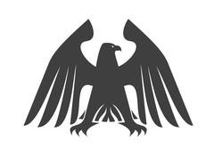 silhouette of a majestic eagle - stock illustration
