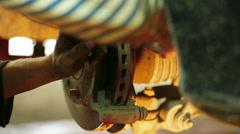 Repairing brake system Stock Footage
