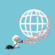 money around the world - stock illustration