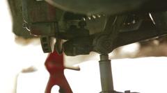 Working at auto repair workshop Stock Footage