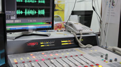 On Air Control Room Stock Footage