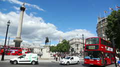 Trafalgar Square 02 - stock footage