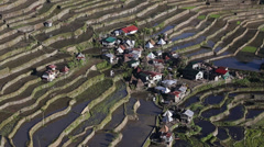 Rice Terraces in Batad, Infgao province,  Philippine. Stock Footage
