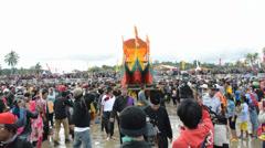 Iraw Tengkayu Festival in Tarakan, Indonesia Stock Footage