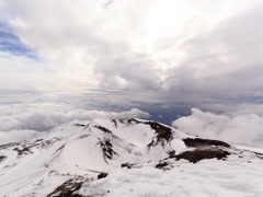 Dormant crater of Etna. Sicily, Italy. Time Lapse. 4x3 Stock Footage