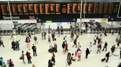 Waterloo Train Station Stock Footage