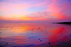 sundown - stock photo