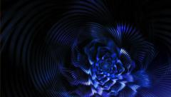 Blue gothic flower Stock Footage