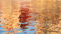 Water motion ripple effect reflection spring autumn colours - stock footage