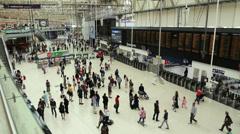 Waterloo Train Station Stock Footage