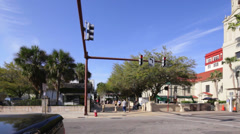 Historic district St Augustine - stock footage