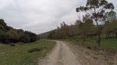 The road to Nazareth in the Galilee Stock Footage