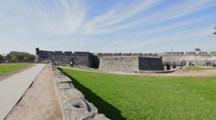 Castillo de San Marcos panning footage - stock footage