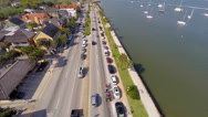 Stock Video Footage of Aerial A1A St. Augustine