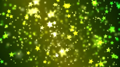 Star Particle Background Animation - Loop Yellow Stock Footage