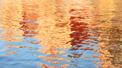Water motion ripple effect reflection Nordic houses Stock Footage