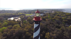 St Augustine lighthouse 2 aerial Stock Footage