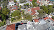 Stock Video Footage of Aerial Historic district St. Augustine