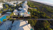 Stock Video Footage of Aerial St Augustine beachfront homes