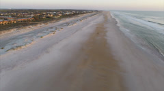 St Augustine Beach fast flyover Stock Footage