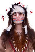 Portriat intiaani miesten studiossa Kuvituskuvat