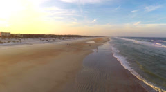 Stock Video Footage of St Augustine beach fly backwards