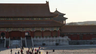 Stock Video Footage of view from the state affair building at forbidden city on a nice day