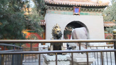 A 360 pan of a small courtyard area in the forbidden city Stock Footage