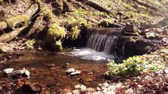 very little mountain waterfall, Creek - stock footage