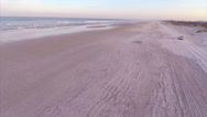 Stock Video Footage of St Augustine bch at dusk